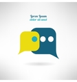 Simple chat icon in modern flat design Internet vector image