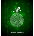 Hi-tech Christmas background vector image vector image