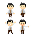 set businessman cartoon character vector image