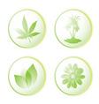 eco icon leaf vector image vector image