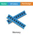 Computer memory icon vector image