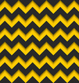 Abstract zigzag seamless pattern black and yellow vector image