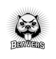 Beaver logo black and white head vector image