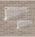 glass frame on brick wall vector image
