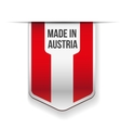 Made in Austria flag ribbon vector image