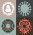optical collection with buddah vector image