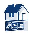 repair house sign vector image
