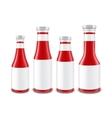 Set of Glass Ketchup Bottles different Shapes vector image