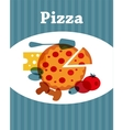 Template of Pizza menu vector image