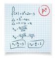 Math test vector image
