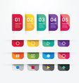 Modern design button tag blank rectangle labels vector image