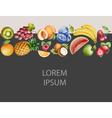 Watercolor fruit vector image