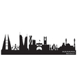 Manama Bahrain skyline Detailed silhouette vector image