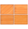 wood texture set vector image vector image