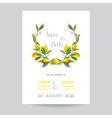 Wedding Invitation or Congratulation Card Set vector image vector image