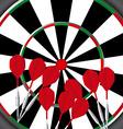 darts game vector image