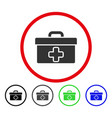 first aid toolbox rounded icon vector image