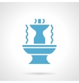 Fountain architecture glyph style icon vector image