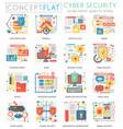 infographics mini concept online communication vector image