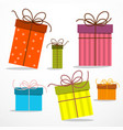 retro paper gift boxes vector image