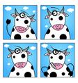 Set of funny animals cartoon character vector image