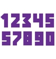 Violent bold numbers vector image