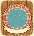 Western symbol background on old wood texture vector image vector image