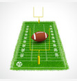 American football field perspective view vector image