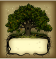 oak tree with a banner vector image