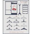 hanger shopping time vector image
