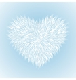 fluffy white heart vector image vector image