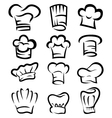 collection of chef hat cartoon vector image