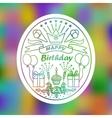 Happy Birthday Sign vector image