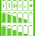 Battery icon set Set of battery charge level vector image