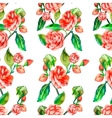 Camellia Rose Seamless floral pattern vector image