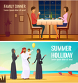 Eastern People Design Compositions vector image