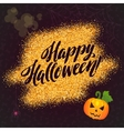 Happy Halloween Gold Sparkles Background with vector image