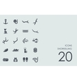 Set of snorkelling icons vector image