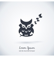 Sleeping owl logo Dream concept icon vector image