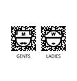 Toilet qr code sign vector image