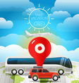 Different vehicle tour concept Take vacation vector image