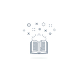 Opened book icon and logo vector image