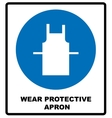 Wear protective gloves Use protective apron vector image
