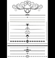 Collection of decorative brushes vector image vector image
