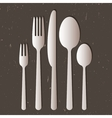 Cutlery on gray background vector image vector image