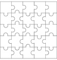 Design of jigsaw pattern vector image