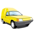 yellow pickup vector image vector image
