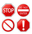 attention red design elements vector image