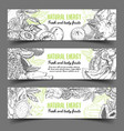 banner with natural exotic fruits vector image