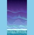 cartoon polar landscape vector image